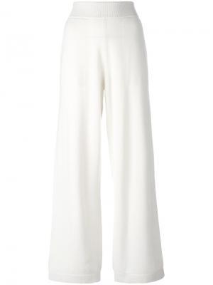 Прямые спортивные брюки Barrie. Цвет: белый