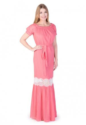Платье Uona. Цвет: коралловый