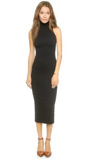 Двустороннее платье с воротником под горло AD. Цвет: черный/серый меланж