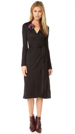 Платье-халат Cybil Diane von Furstenberg. Цвет: голубой