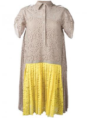Кружевное платье Nº21. Цвет: телесный
