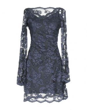 Короткое платье OLVI'S. Цвет: свинцово-серый