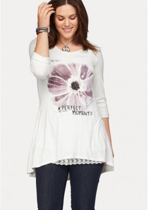 Туника BOYSENS BOYSEN'S. Цвет: цвет белой шерсти с рисунком