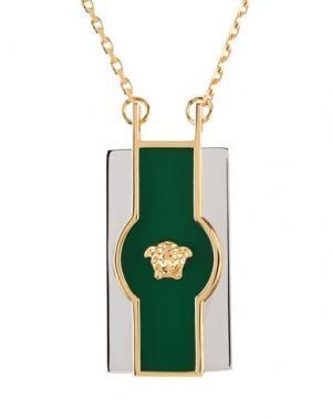 Ожерелье VERSACE. Цвет: зеленый