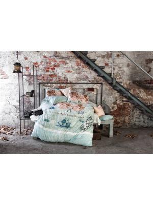 Комплект постельного белья WORLD TRAVEL, ранфорс, 145ТС, 100% хлопок, 1,5x ISSIMO Home. Цвет: голубой