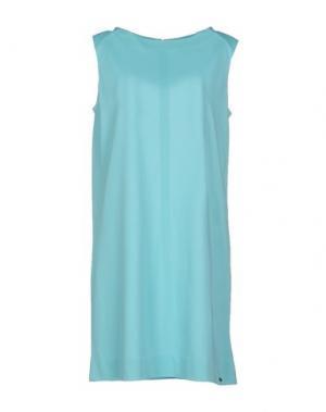 Короткое платье COURRÈGES. Цвет: бирюзовый