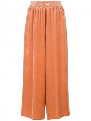 Широкие укороченные брюки Cédric Charlier. Цвет: жёлтый и оранжевый