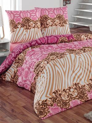 Комплект постельного белья Фэшн Тет-а-Тет. Цвет: бежевый, розовый, молочный