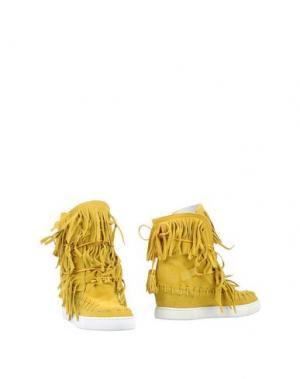 Полусапоги и высокие ботинки GENEVE. Цвет: кислотно-зеленый