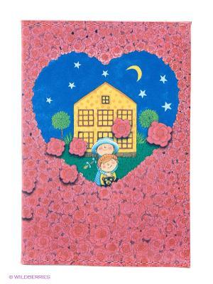 Обложка для автодокументов Влюбленные в розах Mitya Veselkov. Цвет: розовый, синий