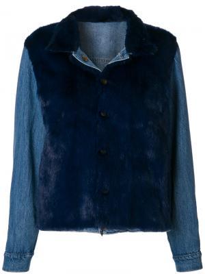 Куртка Jeans Simonetta Ravizza. Цвет: синий
