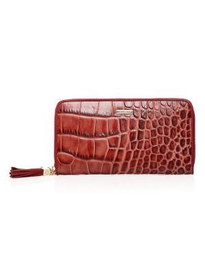 Кошелек женский EF130 0882 203 натуральная кожа Piacere. Цвет: красный