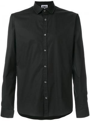 Рубашка с горловиной на молнии Les Hommes Urban. Цвет: чёрный