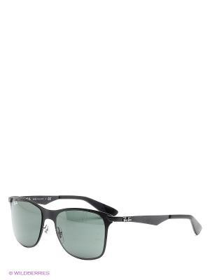 Очки солнцезащитные Ray Ban. Цвет: зеленый, черный