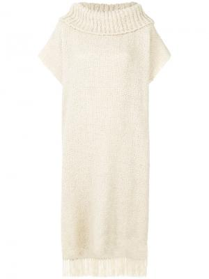Cowl-neck long sweater Ulla Johnson. Цвет: телесный