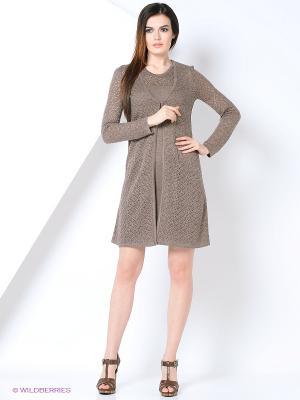 Комплект одежды Veronika Style. Цвет: серо-коричневый