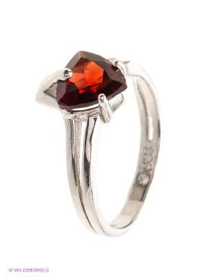 Кольцо BALEX. Цвет: серебристый, красный