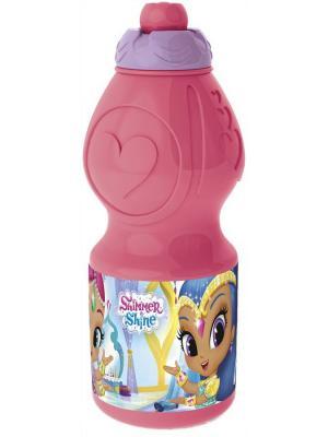 Бутылка пластиковая (спортивная, фигурная, 400 мл). Шиммер и Шайн Stor. Цвет: оранжевый