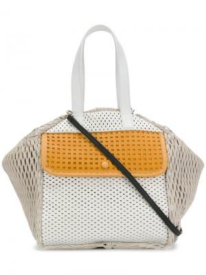 Colour-block tote Carmina Campus. Цвет: телесный