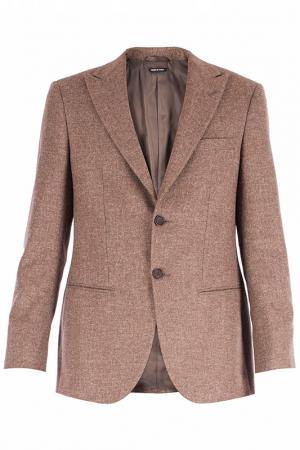 Пиджак Giorgio Armani. Цвет: коричневый