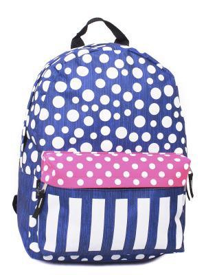 Ранец CAGIA. Цвет: синий, розовый
