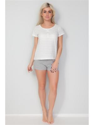 Пижама Vis-a-vis. Цвет: серый меланж