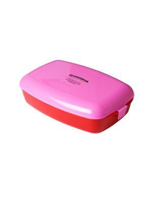 Фроззипак контейнер с охлаждающим элементом No.2 Lurch. Цвет: красный, розовый