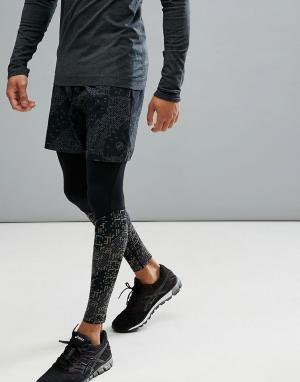 Asics Черные шорты Lite Show 7 146624-1179. Цвет: черный