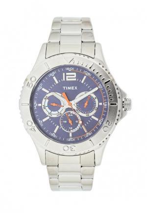 Часы Timex. Цвет: серебряный
