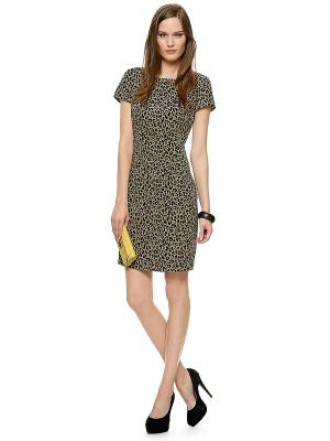 Платье S.OLIVER. Цвет: черный, светло-бежевый, желтый