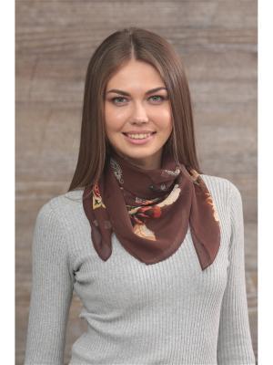Платок FOMAS. Цвет: темно-коричневый, терракотовый