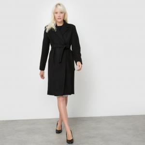 Пальто удлиненное EUGENE с поясом SUNCOO. Цвет: черный