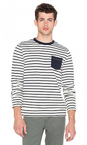 Полосатая футболка с длинным рукавом Altru. Цвет: беж