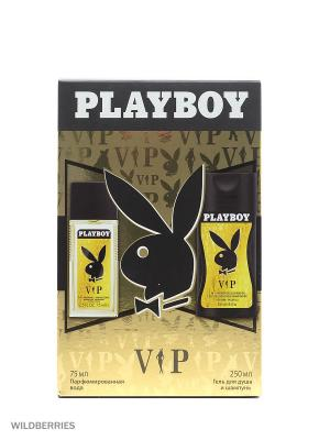 Playboy - Набор М vip  гель для душа и шампунь 250 мл + парфюмированная вода 75. Цвет: прозрачный