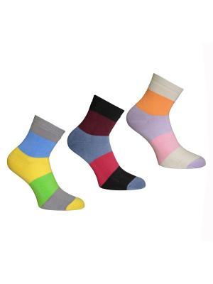 Носки, 3 пары Master Socks. Цвет: желтый, голубой, сиреневый
