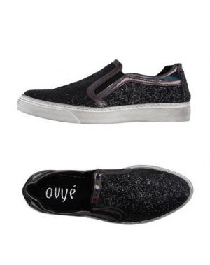 Низкие кеды и кроссовки OVYE' BY CRISTINA LUCCHI. Цвет: черный