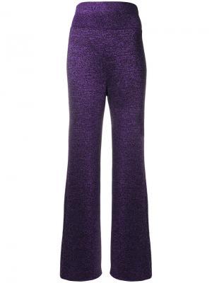 Широкие блестящие брюки Missoni. Цвет: розовый и фиолетовый