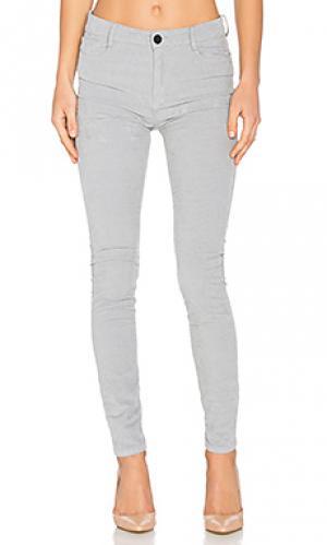 Узкие джинсы Etienne Marcel. Цвет: серый