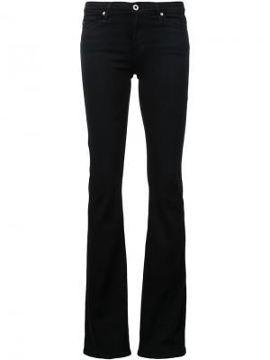 Джинсы с клешем ниже колена Ag Jeans. Цвет: синий