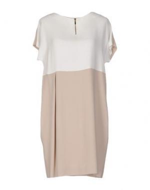 Короткое платье ANTONELLI. Цвет: белый