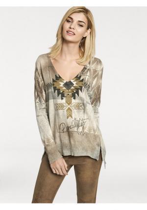Пуловер Rick Cardona. Цвет: цветной