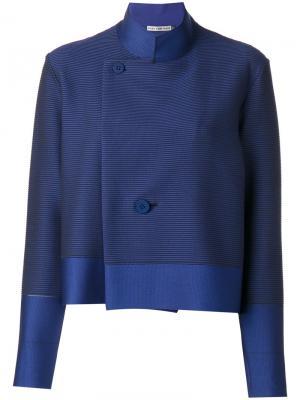 Пиджак в полоску Issey Miyake. Цвет: синий