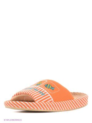 Тапочки LAMALIBOO. Цвет: оранжевый