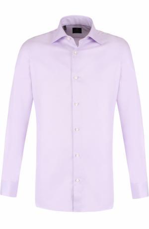 Хлопковая сорочка с воротником кент Luigi Borrelli. Цвет: розовый