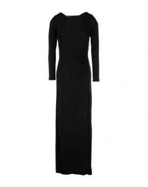 Длинное платье DENNY ROSE. Цвет: черный