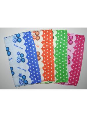 Набор полотенец 4пр Фрукты La Pastel. Цвет: розовый, синий, зеленый, оранжевый