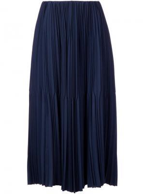 Плиссированная юбка Astraet. Цвет: синий