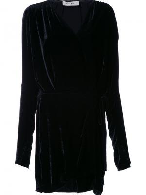 Платье Anjelica Attico. Цвет: чёрный