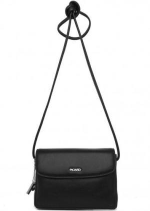 Черная кожаная сумка через плечо Picard. Цвет: черный
