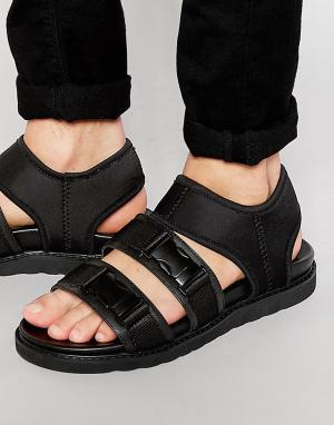 Dark Future Черные сандалии-гладиаторы из неопрена с пряжками на ремешках Fut. Цвет: черный